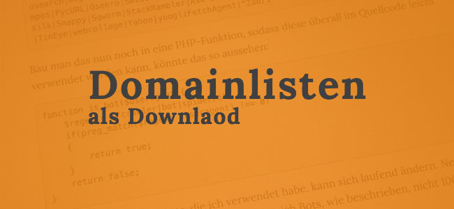 >30 Millionen Domains als Liste zum Download